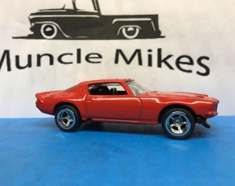 Custom Hot Wheels 1970 Camaro American Racing Wheels with Rubber Tires Custom Painted GLOSS RED