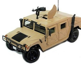 Collectible 1/24 Scale Diecast Humvee (Tan) Diecast Model