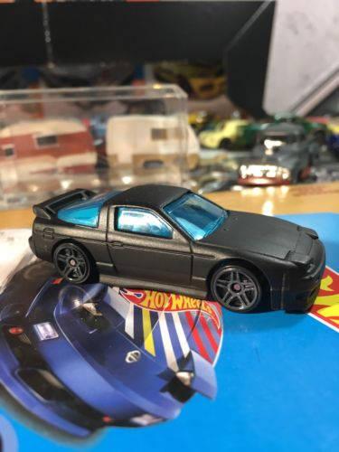 Custom Hot Wheels 96 Nissan 180sx Type X Flat Black