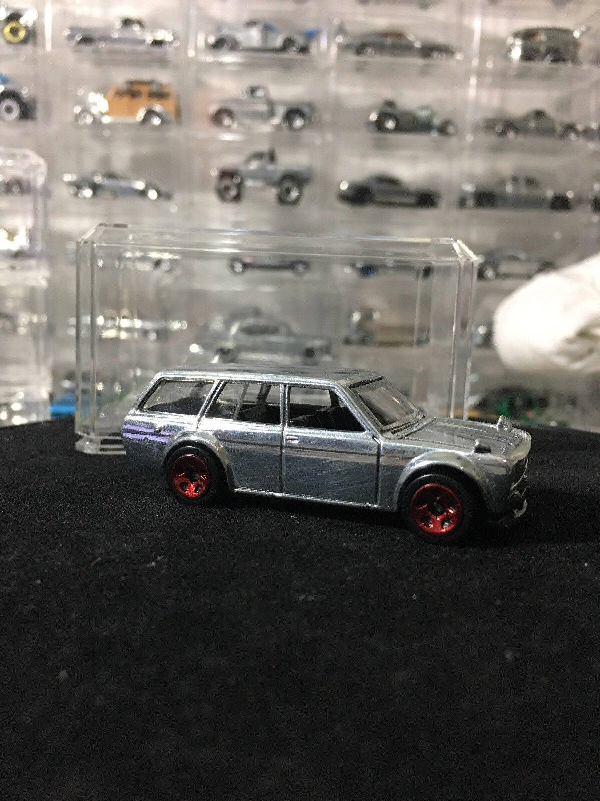 Custom Hot Wheels 71 Datsun Bluebird 510 Wagon Polished