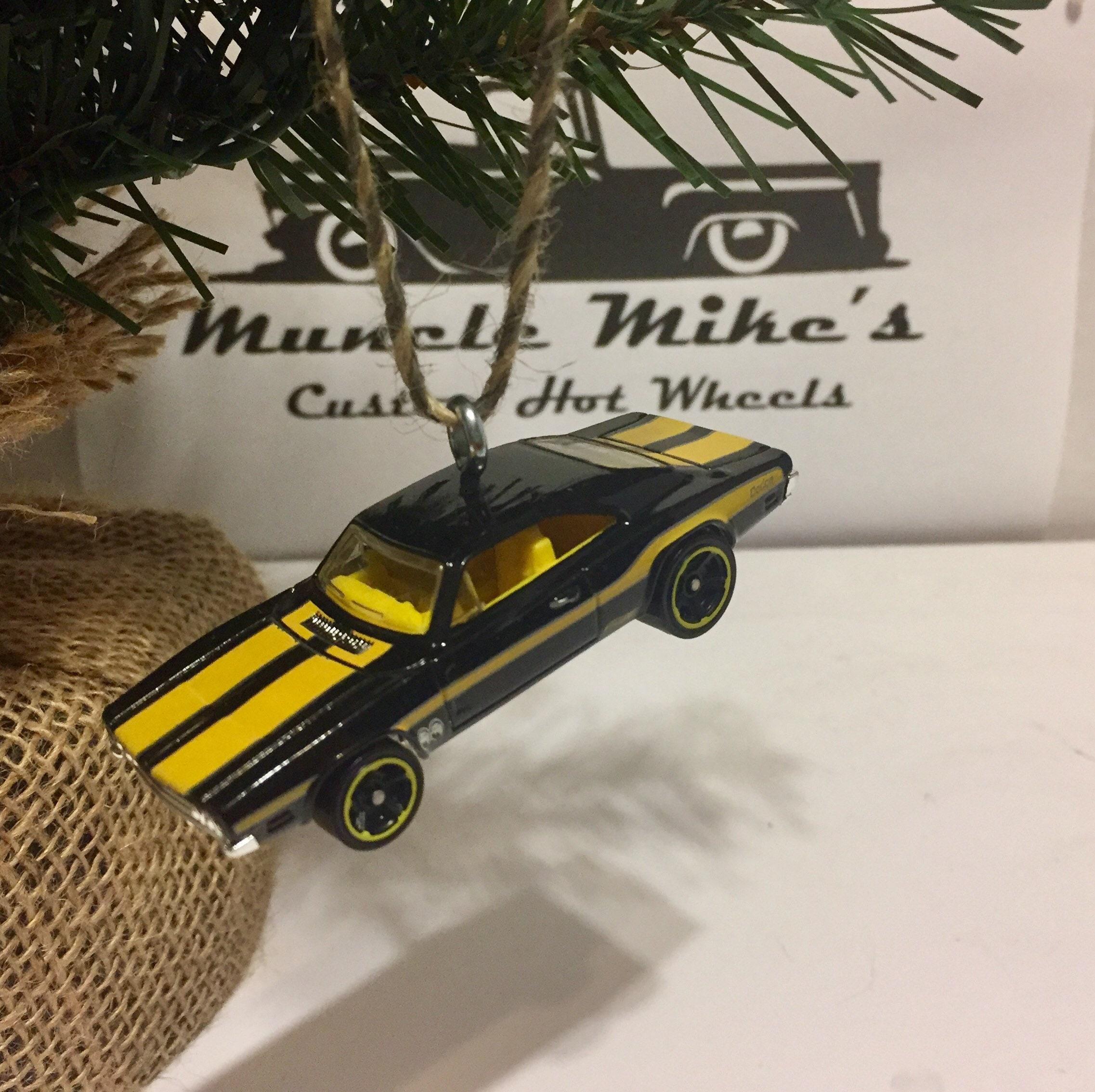 Hot Wheels Christmas Ornament Custom  69 Dodge Charger 500 Mooneyes Christmas Ornament