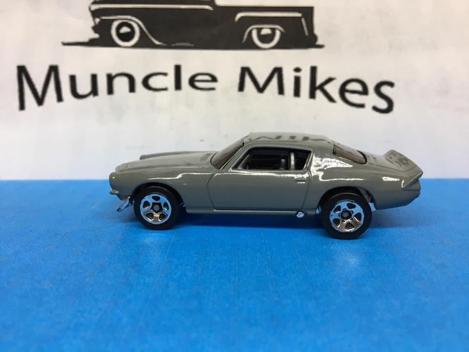 Custom Hot Wheels Custom Painted Machine Gray 1970 Camaro