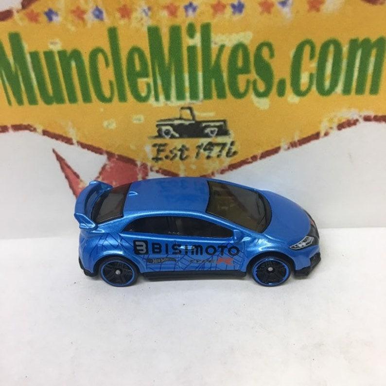 Hot Wheels /& Display Case 2016 Honda Civic Type-R BLUE