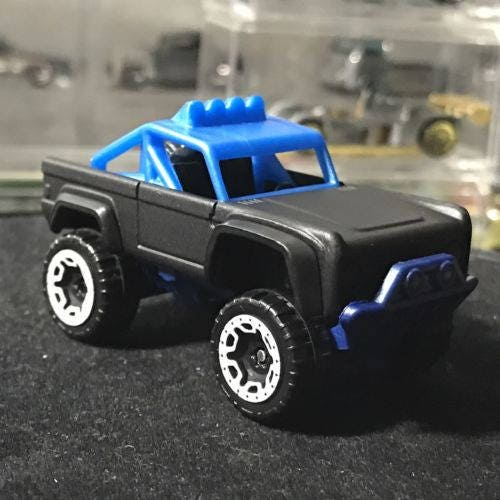 Custom Hot Wheels Surfs Up Custom Ford Bronco Flat Black