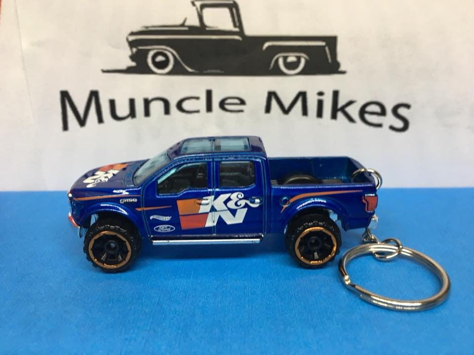 Custom Hot Wheels Ford F-150 Christmas Ornament,  Keychain or Zipper Pull