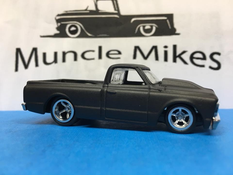 Custom Hot Wheels 1967 Chevy C-10 Rubber Tires Real Rider Style