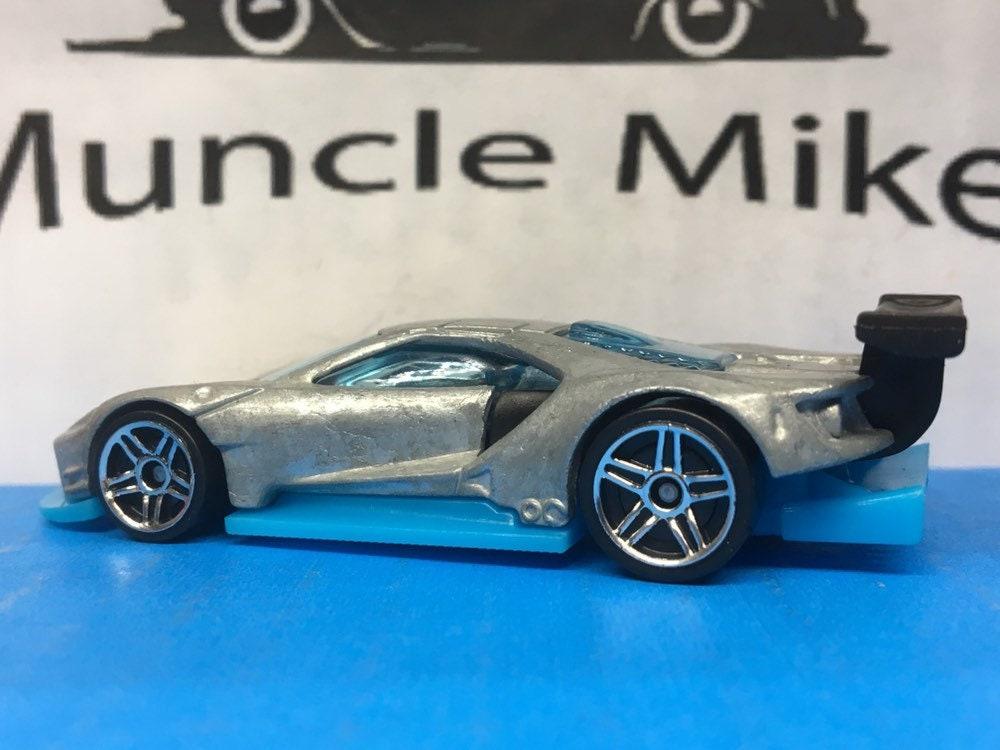 Custom Hot Wheels 2016 Ford GT Race Car Muscle Car Hot Rod Blue Bottom BARE METAL Free Shipping!