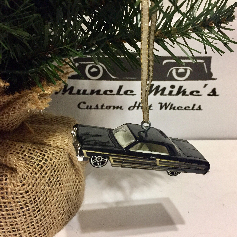 Hot Wheels Christmas Ornament Custom  1964 64 Chevy Impala muscle mania lowrider