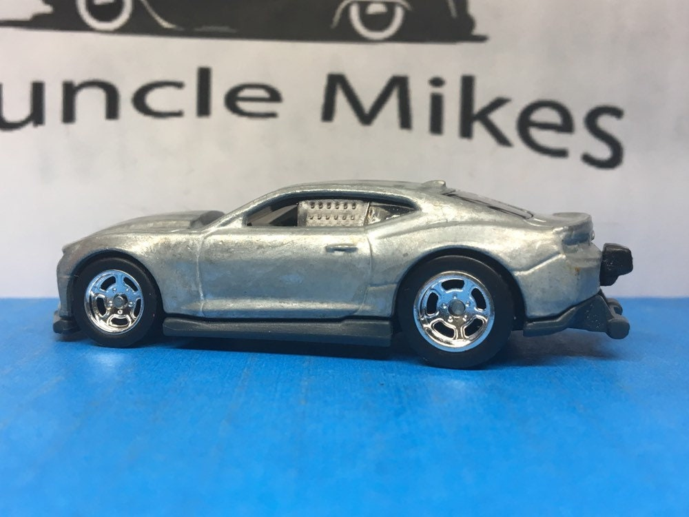 Custom Hot Wheels COPO Camaro Drag Car With Drag Lite Wheels and Rubber Tires Genuine Real Riders BARE METAL Free Shipping!