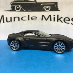 Hot Wheels 17 Aston Martin One 77 Flat Black Etsy