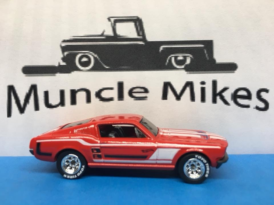 Custom Hot Wheels 67 Mustang Rubber Tires Real Rider Style