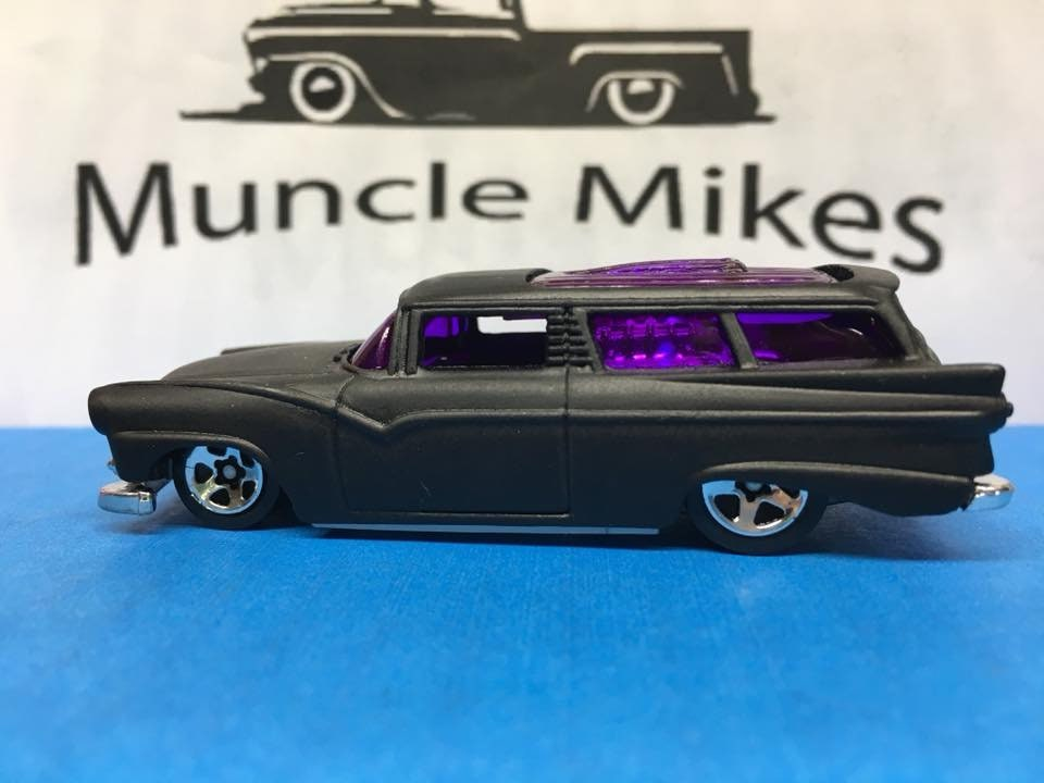 Custom Hot Wheels 8 Crate Flat Black