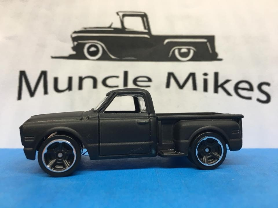 Custom Hot Wheels 69 Chevy Pick Up Truck