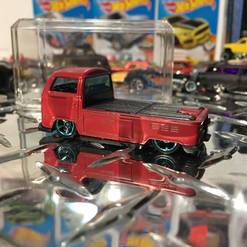 Custom Hot Wheels Volkswagen T2 Pickup Flat Red