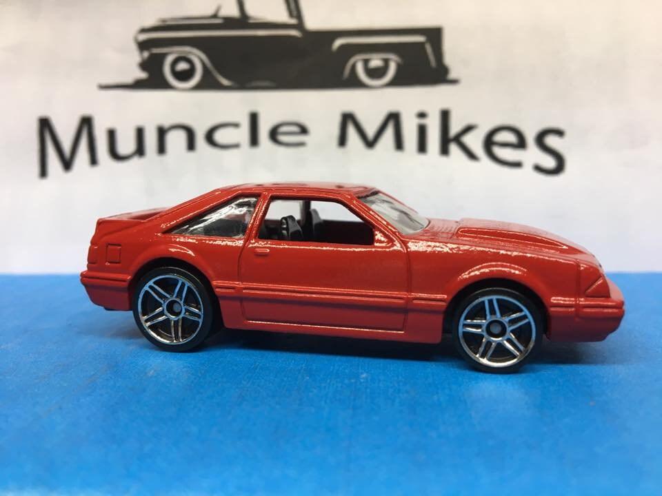 Custom Hot Wheels 92 Mustang Fox Body Custom Painted Cardinal Red