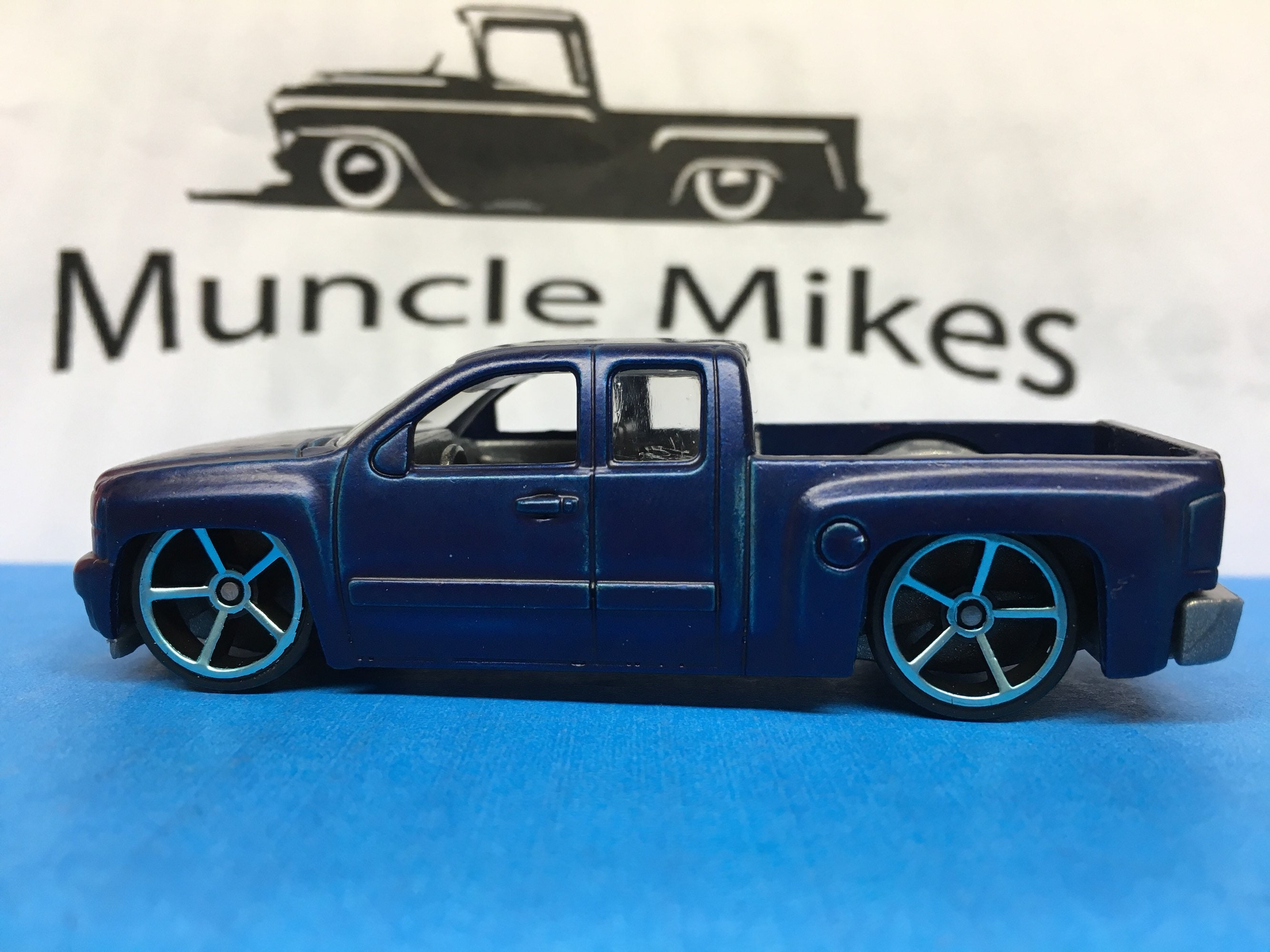 Custom Hot Wheels Chevy Silverado Custom Painted Flat Royal Blue