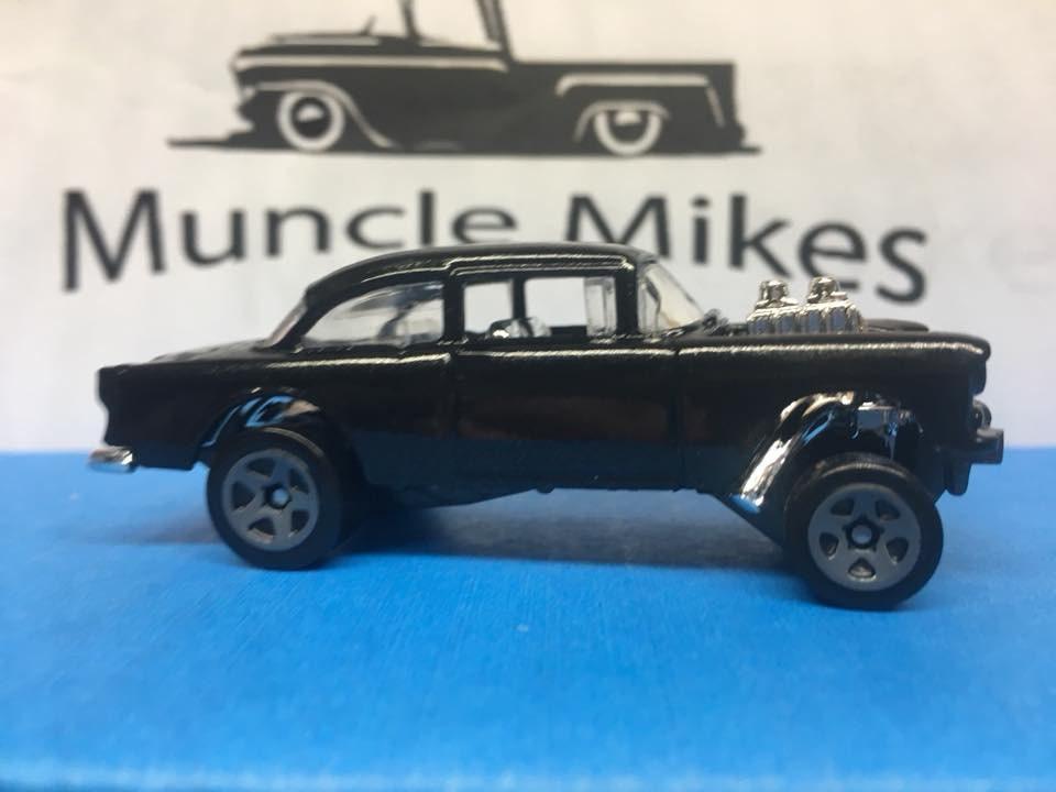Custom Hot Wheels 55 Chevy Gasser Custom Painted Black Pearl Paint