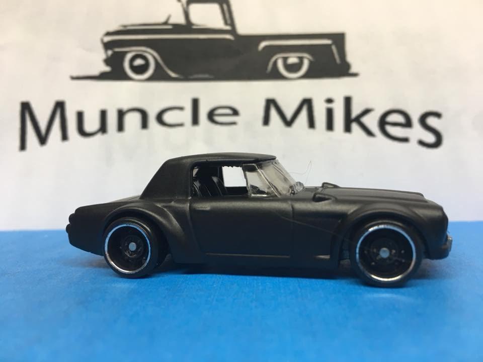 Custom Hot Wheels Datsun Fairlady 2000 Flat Black