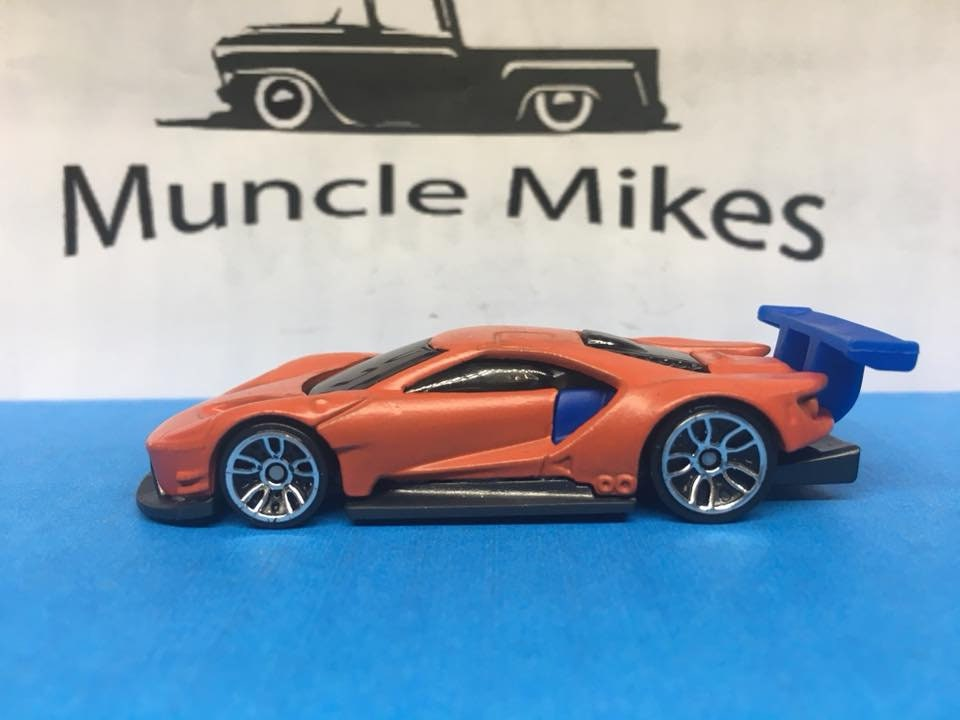 Custom Hot Wheels Ford Gt 40 Race Custom Painted Orange And Blue