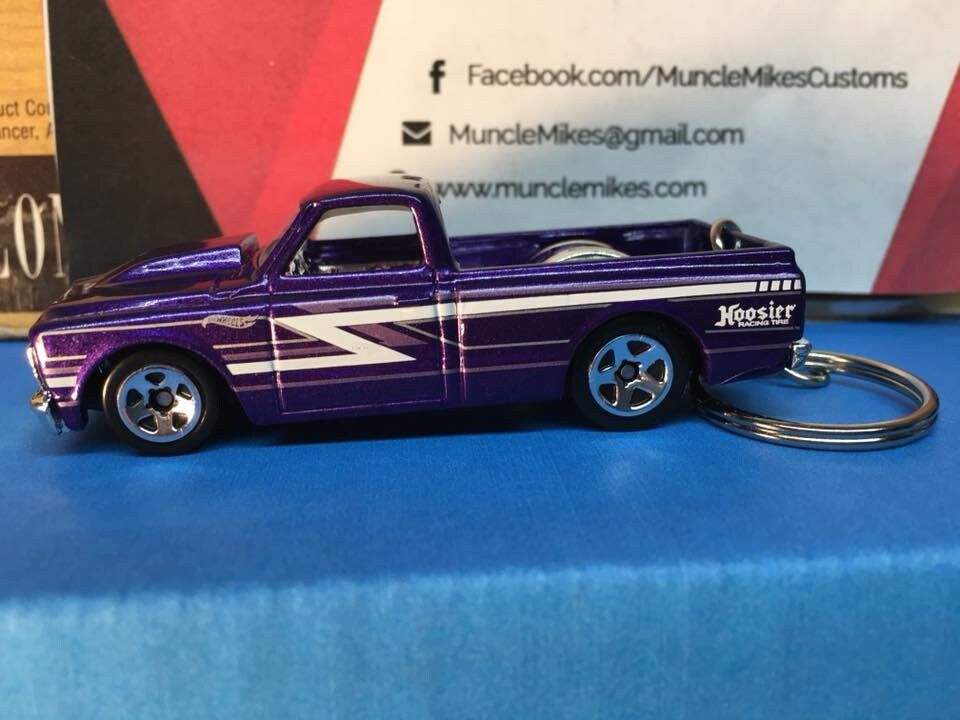 Custom Hot Wheels 1967 Chevy C10 Christmas Ornament,  Keychain or Zipper Pull Free Shipping!