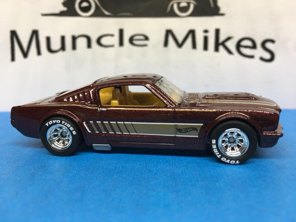 Custom Hot Wheels 65 Mustang Real Rider Style Rubber Tires