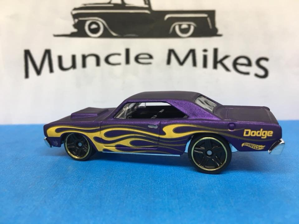 Custom Hot Wheels 68 Dodge Dart Factory Flat Purple