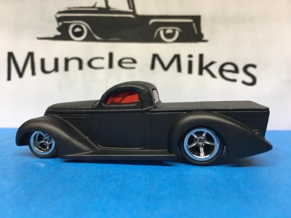 Custom Hot Wheels Super Smooth Flat Black Rubber Tires Real Rider Style