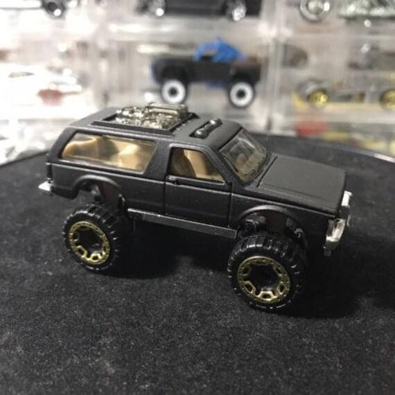 Custom Hot Wheels Chevy Blazer 4x4 Flat Black Etsy