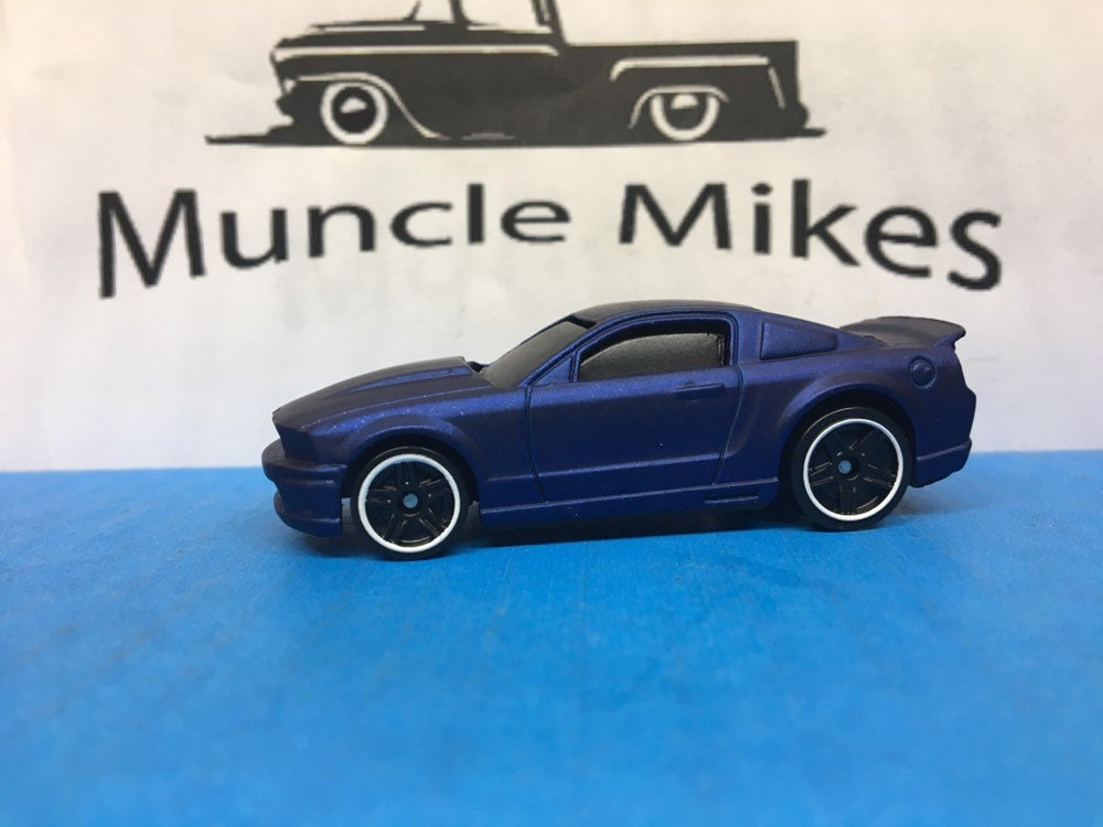 Custom Hot Wheels 2015 Mustang GT Custom Painted Flat Royal Blue