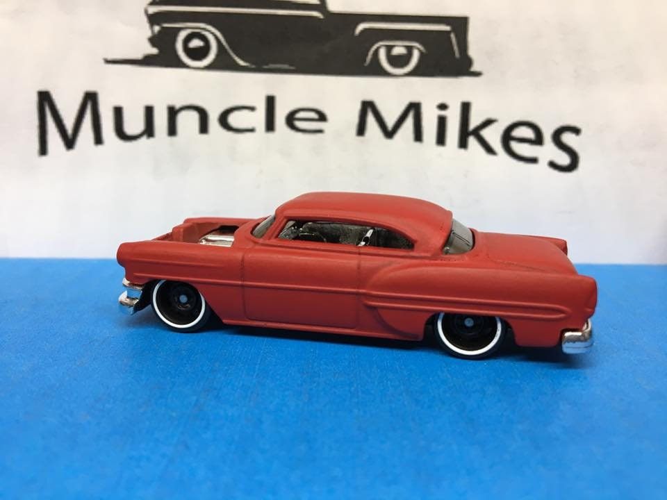 Custom Hot Wheels 53 Chevy Custom Painted Cardinal Red Satin