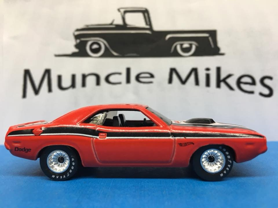 Custom Hot Wheels 70 Challenger Rubber Tires Real Rider Style