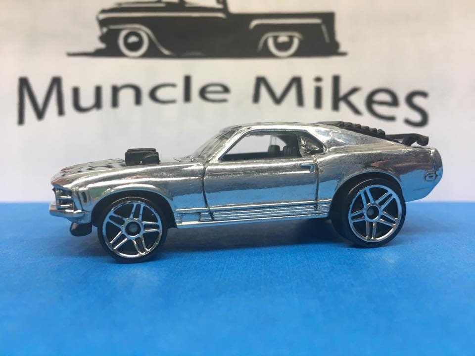 Custom Hot Wheels Mustang Mach 1 Polished