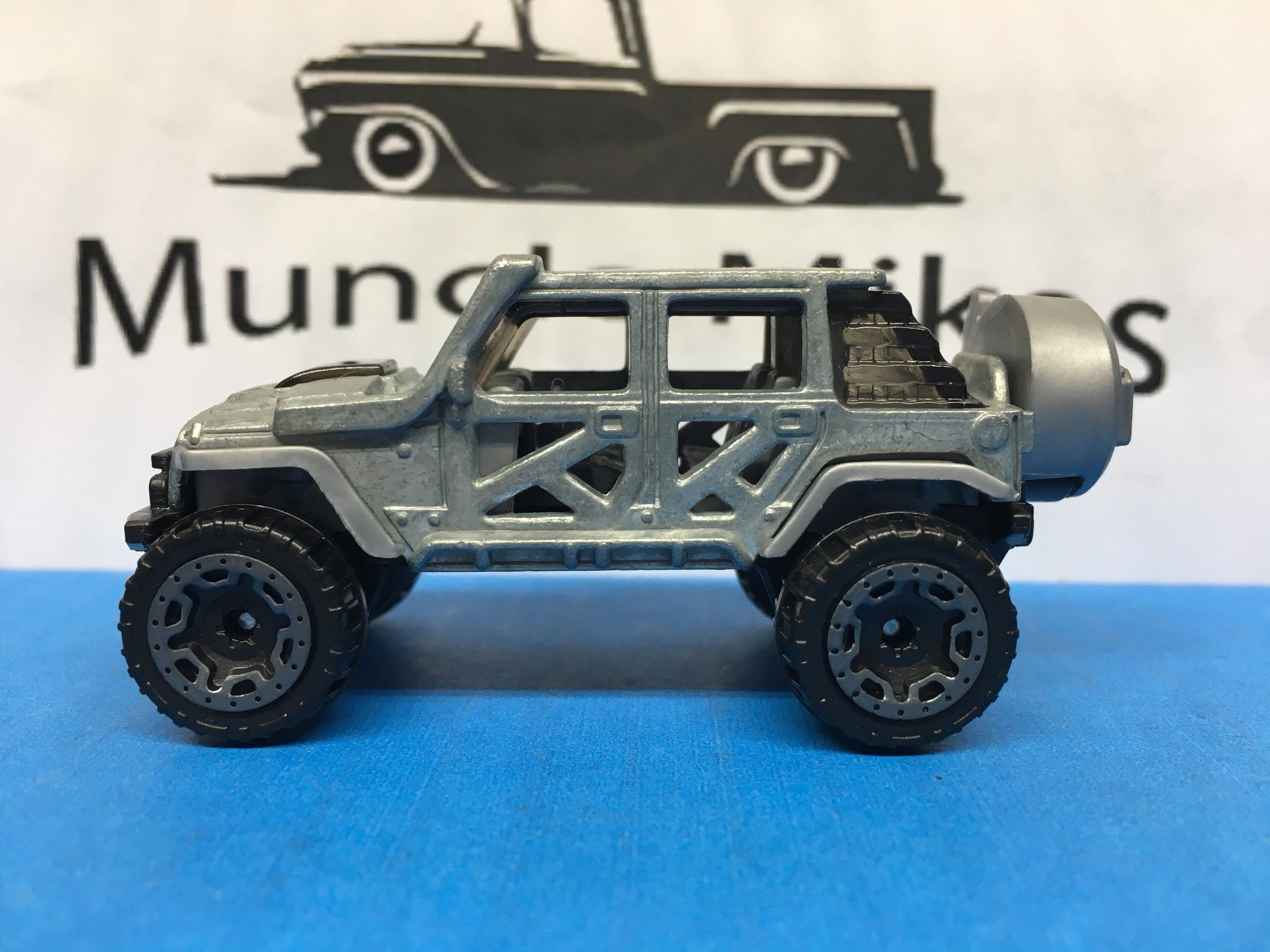 Custom Hot Wheels 17 Jeep Wrangler BARE METAL