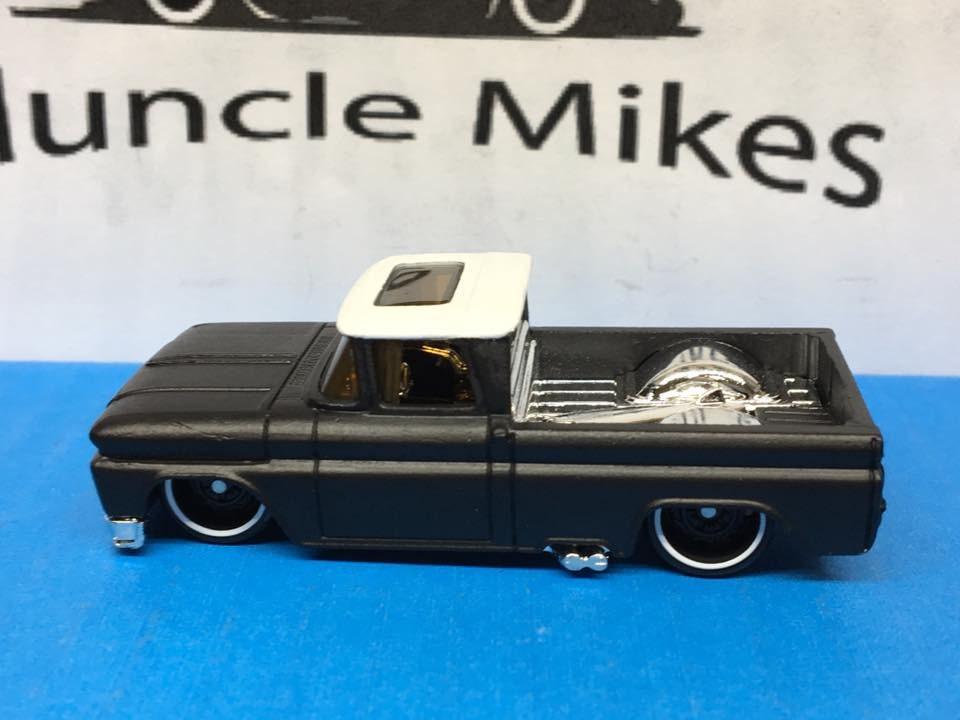 Custom Hot Wheels 62 Chevy Two Tone Satin Flat Black And White