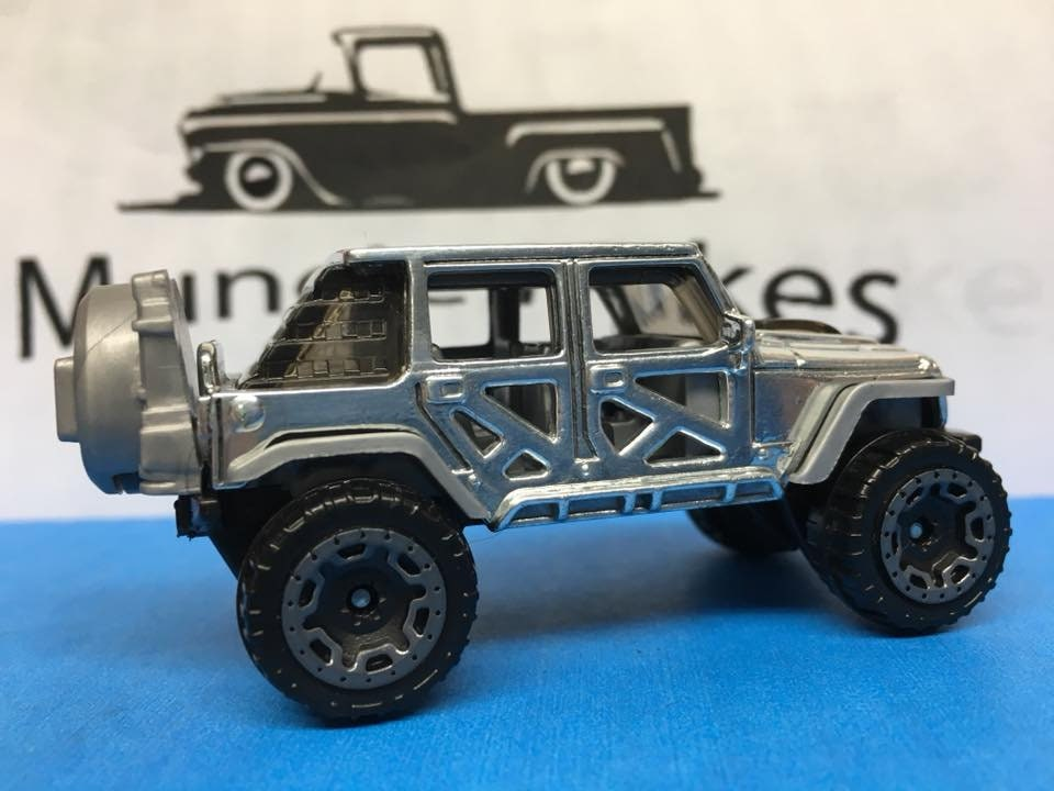 Custom Hot Wheels 17 Jeep Wrangler POLISHED