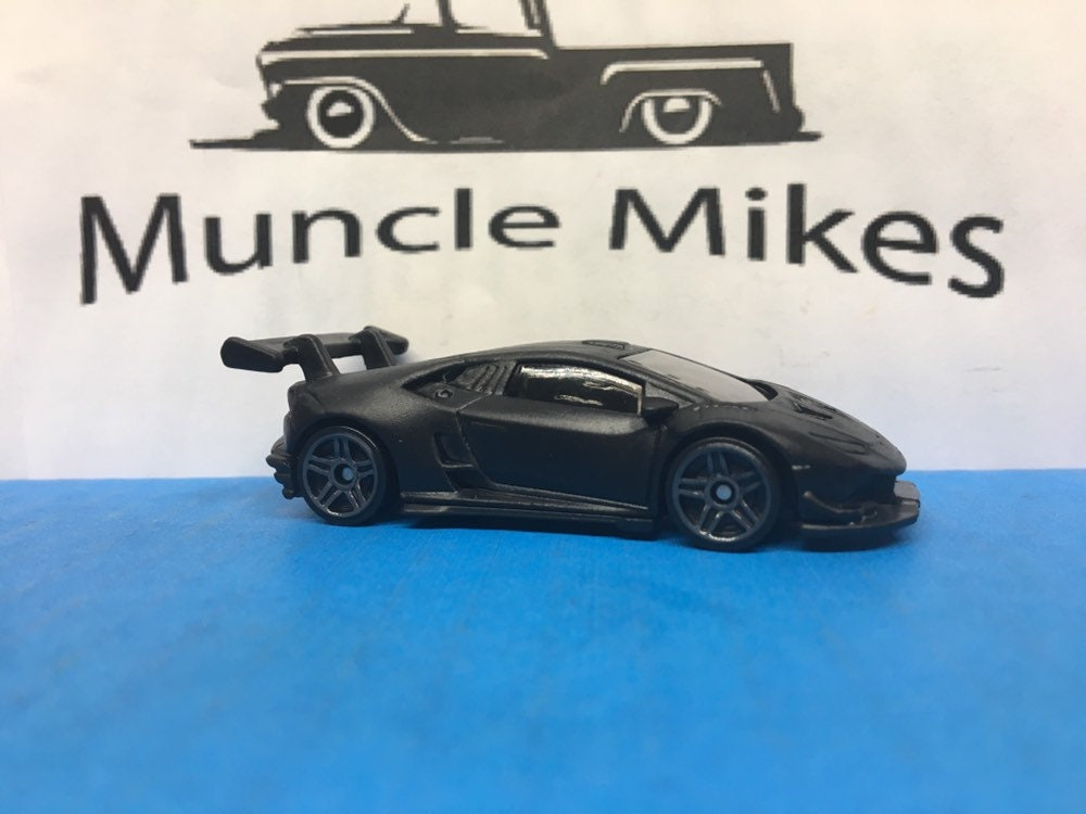 Custom Hot Wheels Lamborghini Huracan Lp 620-2 Super Trofeo Flat Black