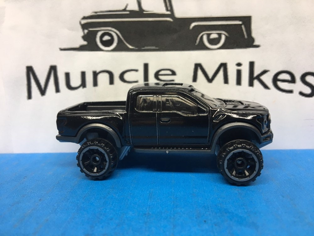 Custom Hot Wheels 2017 Ford F-150 Raptor Custom Painted GLOSS BLACK
