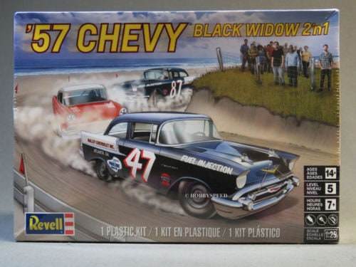 Collectible Plastic Model Kit: 1957 Chevy Black Widow Model Kit