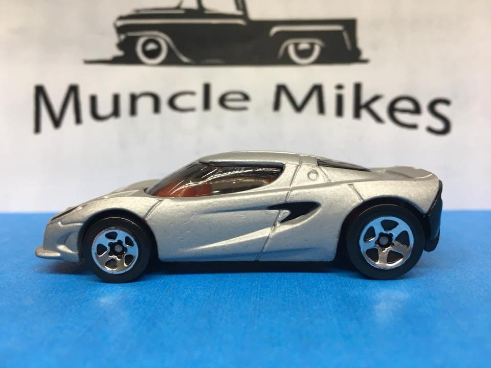 Custom Hot Wheels Lotus Project M250 Factory Satin FLAT SILVER