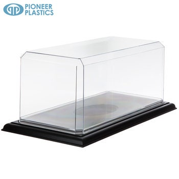 Model Display Case With Black Stand