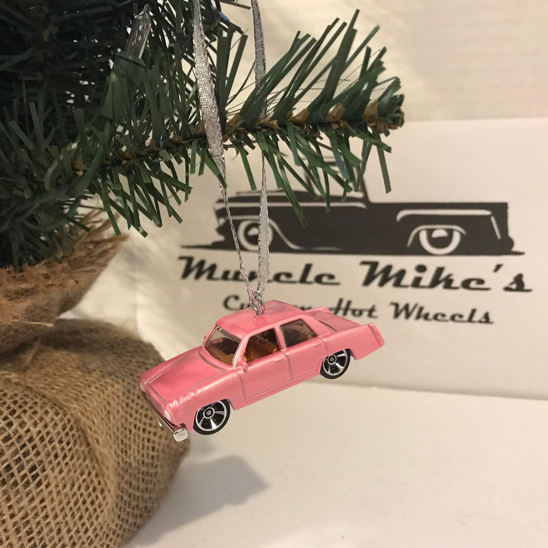 Hot Wheels Christmas Ornament Pink