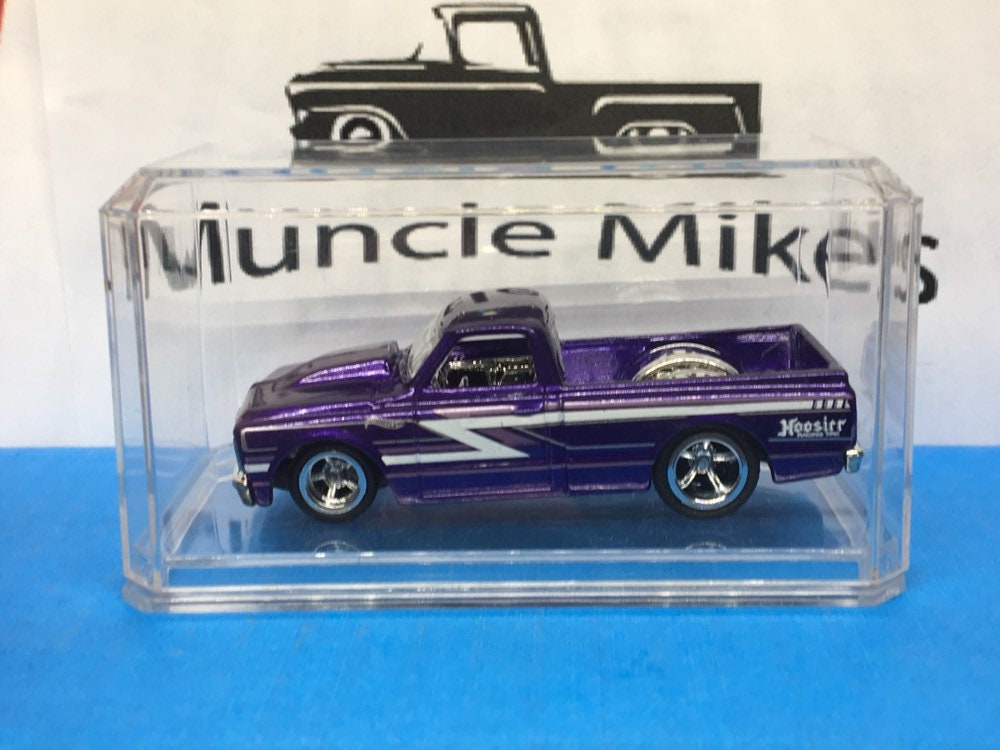 Custom Hot Wheels 67 Chevy C-10 Rubber Tires Real Rider Style