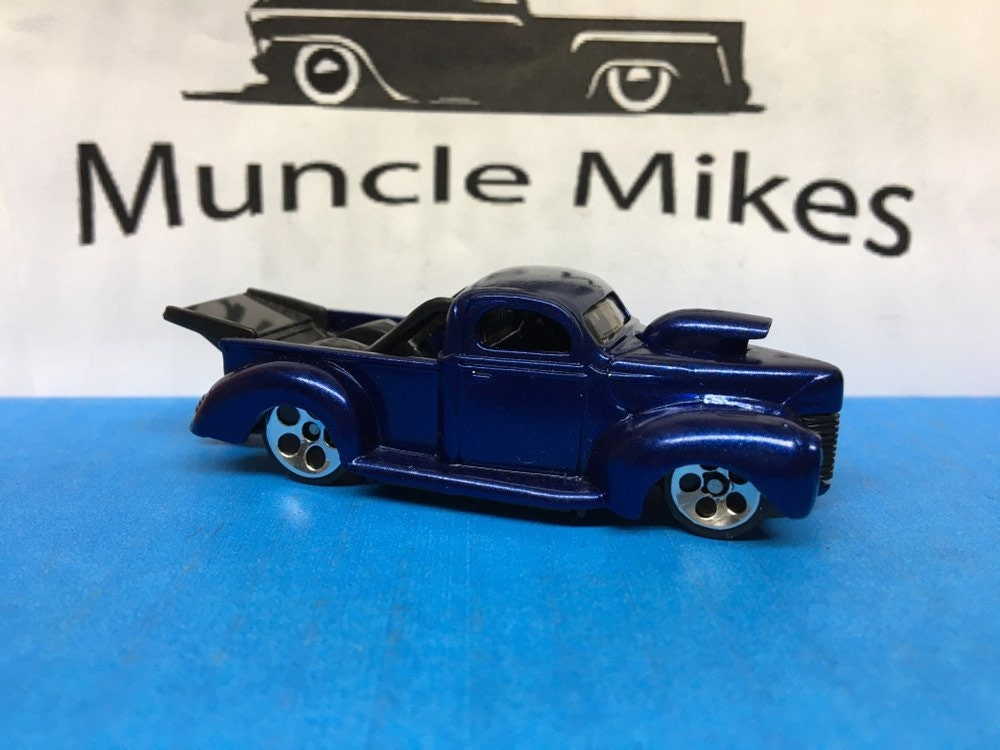 Custom Hot Wheels 40 Ford Truck Royal Blue