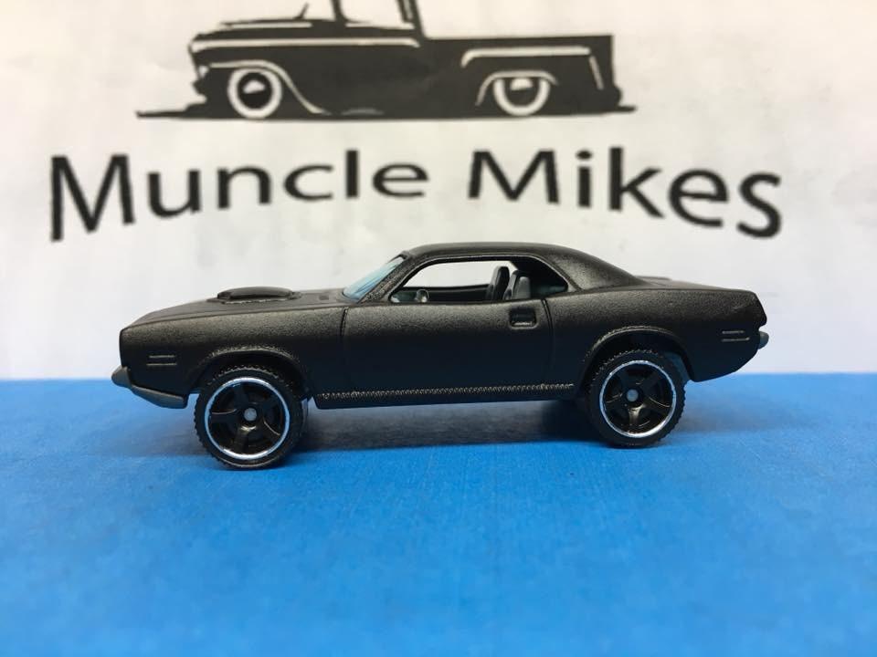 Custom Matchbox 70 Plymouth Cuda Flat Black