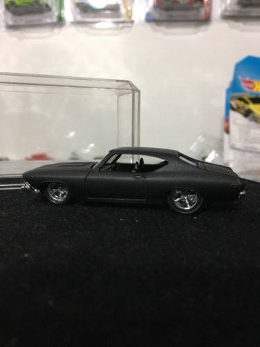 Custom Hot Wheels 69 Chevelle Ss 396 Flat Black Rubber Tires Real Rider Style