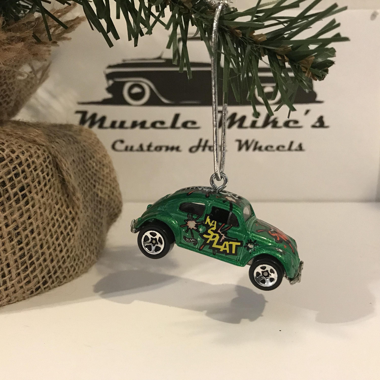 Hot Wheels Christmas Ornament One rare Custom  green Ka Splat Volkswagen VW bug Christmas Ornament