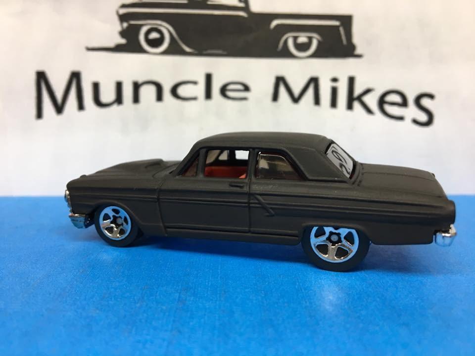 Custom Hot Wheels Ford Fairlane Thunderbolt Flat Black