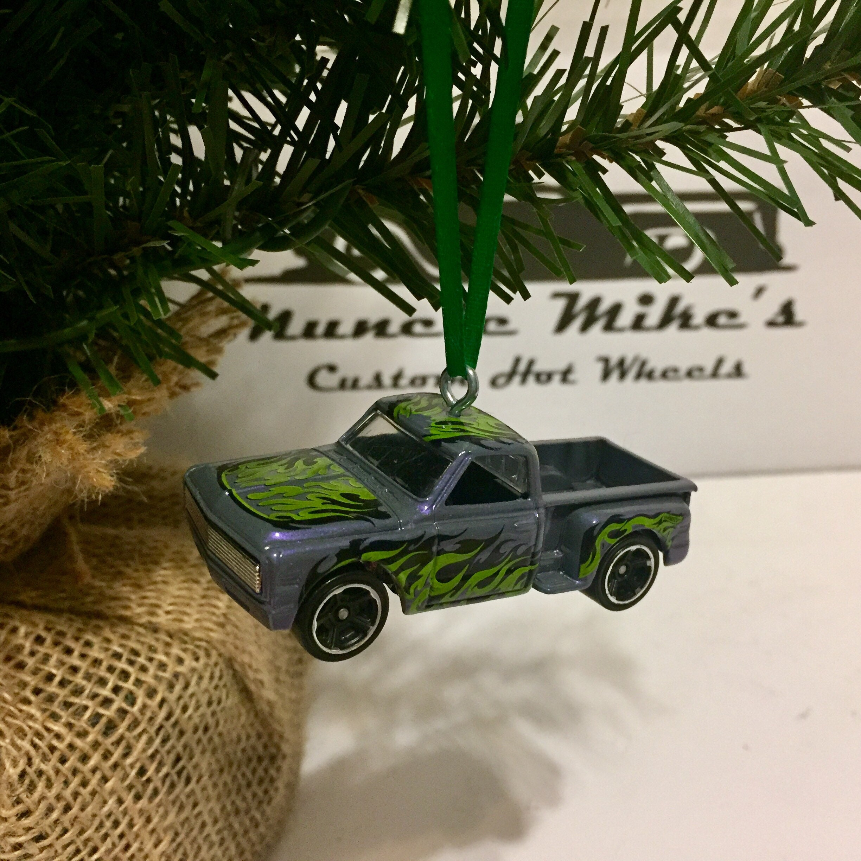 Hot Wheels Christmas Ornament 1969 69 Chevy pickup truck