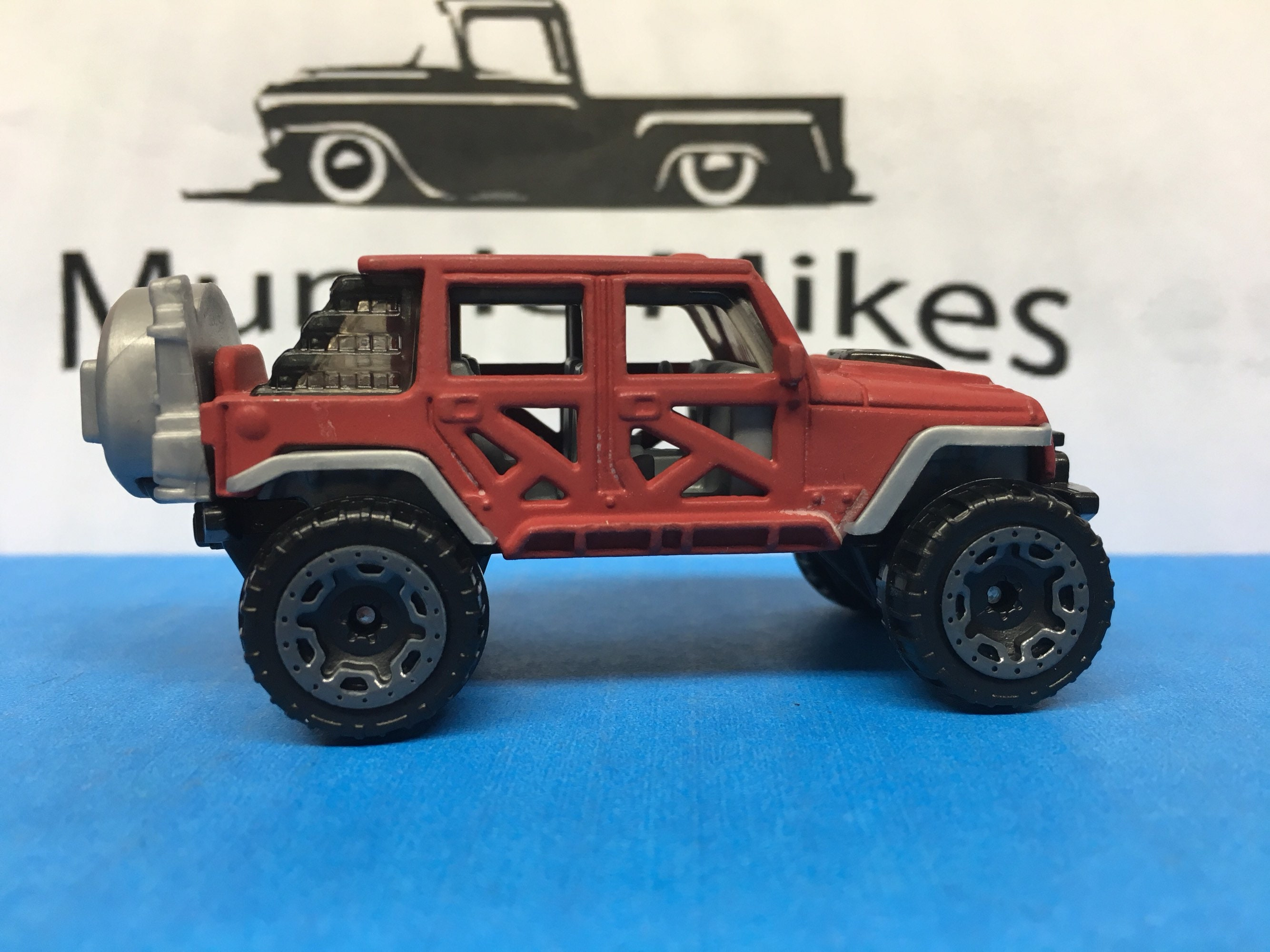 Custom Hot Wheels 17 Jeep Wrangler Flat Red