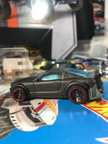 Custom Hot Wheels Kmart K-day 2005 Ford Mustang Flat Black